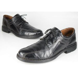 Josef Seibel Sander Black Bicycle Toe Oxfords 44